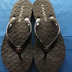 Coach flip-flops